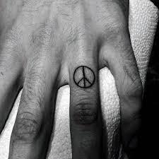 Finger Tattoo Peace | 70 peace sign tattoos for men symbolic ink design ideas male