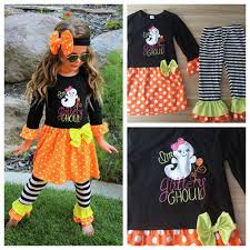 Model Top 100 by Halloween Holiday Baby Boutique Children Fall Clothes Top