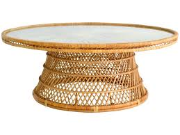 round wicker end table wicker coffee table fifty2 co