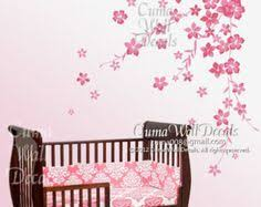 Cherry Blossom Wall Decal For Nursery Wall Decals Cherry Blossom Decal Wall Baby Decal Nursery