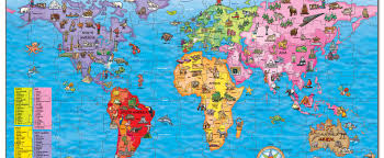 North America World Map by Win A World Map Jigsaw Puzzle National Geographic Kids
