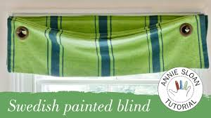 How To Make Window Blinds - how to make and hang a swedish blind youtube