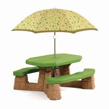 step 2 folding picnic table folding picnic table umbrella new step2 naturally playful kids