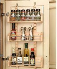 Spice Rack Door Mounted Pantry Door Mount Spice Rack Ebay