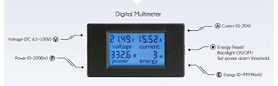 drok digital multimeter dc 6 5 100v 20a voltage amperage power