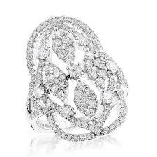 large diamond rings rings luxurman right diamond ring for women 2 carats 14k gold