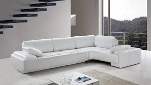 Modern Sofas And Couches by Furniture Awesome White Contemporary Sectional Sofas With Dark