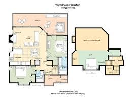 Bay Lake Tower Two Bedroom Villa Floor Plan Club Wyndham Wyndham Flagstaff