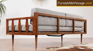 Mid Century Daybed Sculpted Arm Mid Century Modern Daybed