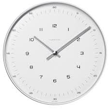 max bill by junghans radio controlled wall clock 30 cm 374 7001