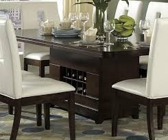 dining table with wine storage luxurious masculine and elegant wood dining table design with