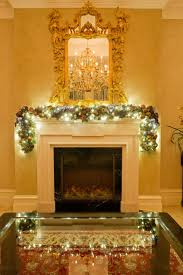 christmas garland with lights fireplace garland fireplace