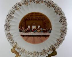 sanders mfg co lord s supper plate the supper etsy