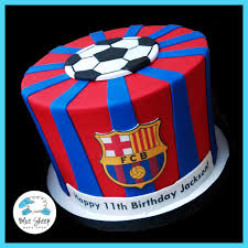 soccer cakes fcb soccer birthday cake blue sheep bake shop