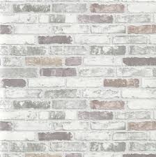 Kitchen Wallpaper by New Luxury Erismann Brix Grey Brick Wall Effect Embossed Textured