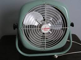 antique vintage lasko electric box square industrial table fan in