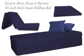 Folding Foam Bed Folding Foam Bed Navy 3 5 Inch Eco Friendly The Futon Shop