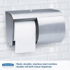 kimberly clark 09606 corelessdouble roll tissue dispenser coreless