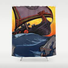 Scandinavian Shower Curtain by Denmark Shower Curtains Society6