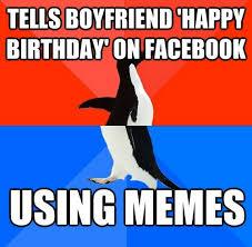 Birthday Memes For Facebook - birthday meme for boyfriend mne vse pohuj