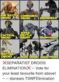 Droid Meme - air battle commando droid the star warsfanbaser super tactical