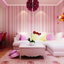 Pink Living Room Furniture 10 Inspiring Living Rooms With Striped Walls Rilane