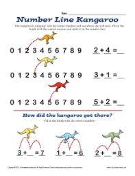 number line u2013 kangaroo math worksheets
