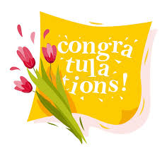 congratulation banner vector flat illustration of flowers and yellow