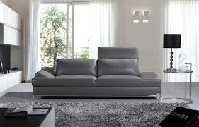Modern Gray Leather Sofa Furniture Gray Leather Sofa Modern Grey Reclining Sectional