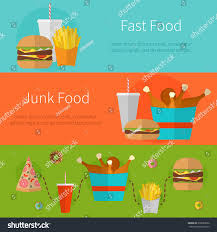 fast food banner design concept flat stock vector 339829592