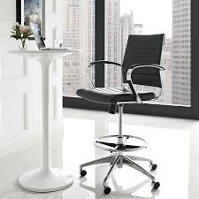 amazon com modway jive drafting chair in black reception desk