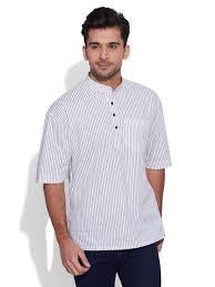 men short sleeve designer cotton kurta casual wear printed ethnic