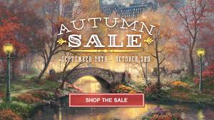 Autumn Home Decor Thomas Kinkade Autumn Art And Home Decor Sale The Thomas Kinkade