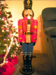 Life Size Nutcracker Outdoor Christmas Decorations Uk Sale Life