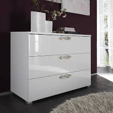 Schlafzimmerm El Conforama 190e Commode Adulte Design Laquée Blanche Infinity 3 Tiroirs