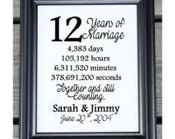 12 year anniversary gift for 2 years 2 years of marriage 2 year anniversary 2nd