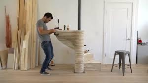carpenter creates a stunning diy spiral staircase in his home