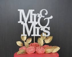 mr and mrs cake topper etsy