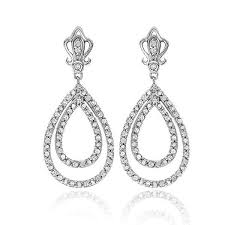 diamond teardrop earrings shop dazzling diamond earrings at netaya