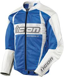 blue motorbike jacket icon arc textile mesh motorcycle jacket blue
