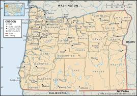 State Of Washington Map by State And County Maps Of Oregon