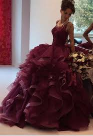 burgundy quince dresses lace gown burgundy quinceanera dress for 16 year