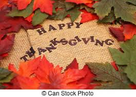 happy thanksgiving card and scarecrow among a cornucopia of
