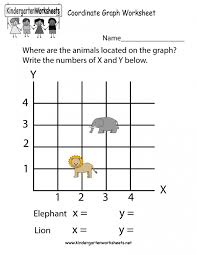 kindergarten coordinate graphing picture worksheets free easy