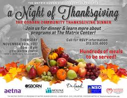 a of thanksgiving matrix human services