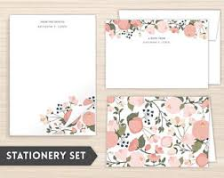 personalized stationery sets stationery set etsy