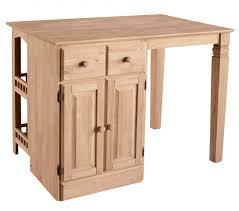 kitchen small unfinished wood kitchen island with storage