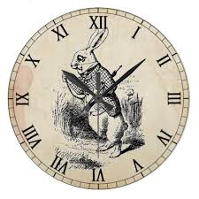 cool clock faces alice in wonderland victorian graphic is the white rabbit from