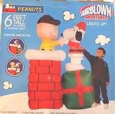 peanuts airblown inflatables peanuts animated brown snoopy christmas