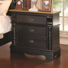 Black Wood Nightstand Best Black Wood Nightstand Beautiful Home Decorating Ideas With